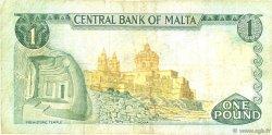 1 Lira MALTE  1973 P.31d TB+