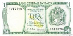 1 Lira MALTE  1973 P.31e pr.NEUF