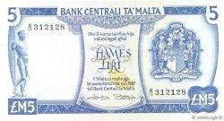 5 Liri MALTE  1973 P.32a TTB+