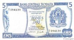 5 Liri MALTE  1973 P.32b TTB+