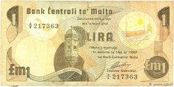 1 Lira MALTE  1979 P.34a B