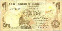 1 Lira MALTE  1979 P.34b B+