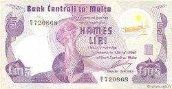 5 Liri MALTE  1979 P.35a TB+