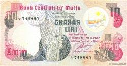 10 Liri MALTE  1979 P.36a TB+