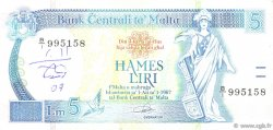 5 Liri MALTE  1989 P.42 TTB