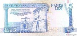 5 Liri MALTE  1994 P.46b TTB+