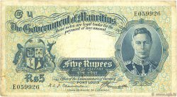 5 Rupees ÎLE MAURICE  1937 P.22 TB
