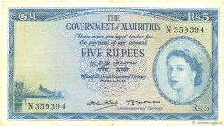 5 Rupees ÎLE MAURICE  1954 P.27 TTB
