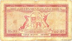 10 Rupees ÎLE MAURICE  1954 P.28 pr.TB