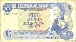 5 Rupees ÎLE MAURICE  1967 P.30a TB