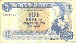 5 Rupees ÎLE MAURICE  1967 P.30b B+
