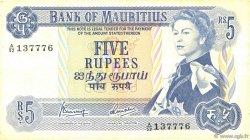 5 Rupees ÎLE MAURICE  1967 P.30c TB+