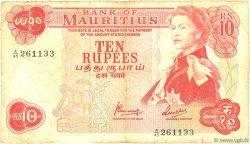 10 Rupees ÎLE MAURICE  1967 P.31c B+