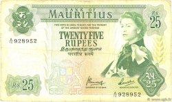 25 Rupees ÎLE MAURICE  1967 P.32b pr.TB