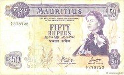 50 Rupees ÎLE MAURICE  1967 P.33c TB