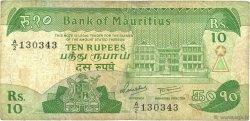 10 Rupees ÎLE MAURICE  1985 P.35a B