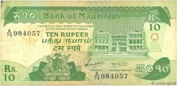 10 Rupees ÎLE MAURICE  1985 P.35b TB