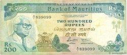 200 Rupees ÎLE MAURICE  1986 P.39a TB+