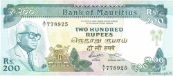 200 Rupees ÎLE MAURICE  1986 P.39a NEUF