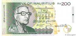 200 Rupees ÎLE MAURICE  1998 P.45 SPL+