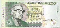 200 Rupees ÎLE MAURICE  2001 P.52b TTB+