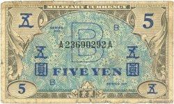 5 Yen JAPON  1945 P.069a B