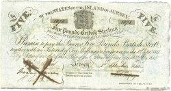 5 Pounds JERSEY  1840 P.A01b SUP