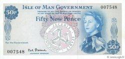 50 New Pence ÎLE DE MAN  1969 P.27a TTB