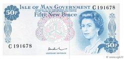 50 New Pence ÎLE DE MAN  1972 P.28c pr.NEUF