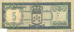 5 Gulden ANTILLES NÉERLANDAISES  1972 P.08b TB