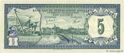 5 Gulden ANTILLES NÉERLANDAISES  1972 P.08b SUP