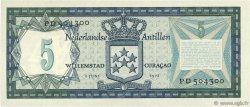 5 Gulden ANTILLES NÉERLANDAISES  1972 P.08b pr.NEUF