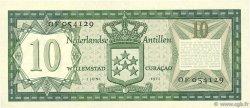 10 Gulden ANTILLES NÉERLANDAISES  1972 P.09b SUP+