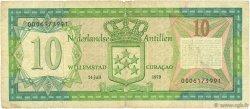 10 Gulden ANTILLES NÉERLANDAISES  1979 P.16a TB