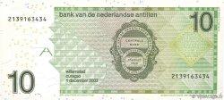 10 Gulden ANTILLES NÉERLANDAISES  1998 P.28c NEUF