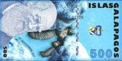 500 Nouveaux Sucres ÎLES GALAPAGOS  2011  NEUF