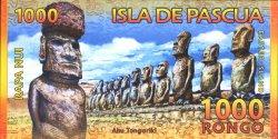 1000 Rongo ÎLE DE PÂQUES  2011 P.- NEUF