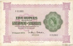 5 Rupees SEYCHELLES  1954 P.11a TTB