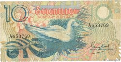10 Rupees SEYCHELLES  1979 P.23a TB