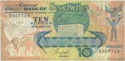 10 Rupees SEYCHELLES  1989 P.32 B+