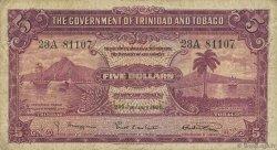 5 Dollars TRINIDAD et TOBAGO  1939 P.07b B+