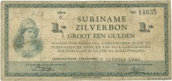 1 Gulden SURINAM  1940 P.105a B
