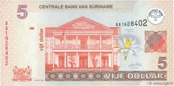 5 Dollars SURINAM  2004 P.157a NEUF