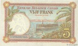 5 Francs CONGO BELGE  1930 P.08e TTB+