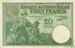 20 Francs CONGO BELGE  1929 P.10f TTB