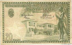 20 Francs CONGO BELGE  1954 P.26 B à TB