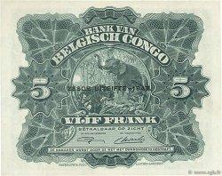 5 Francs CONGO BELGE  1954 P.13Ad SUP