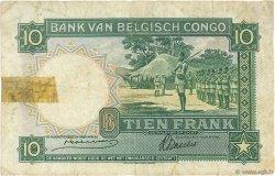10 Francs CONGO BELGE  1941 P.14 pr.TB