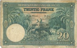 20 Francs CONGO BELGE  1950 P.15H B+