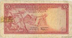 50 Francs CONGO BELGE  1959 P.32 pr.TB